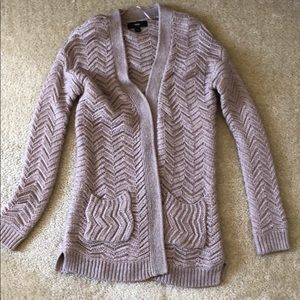 Mossimo Purple Wool Cable Knit Cardigan M